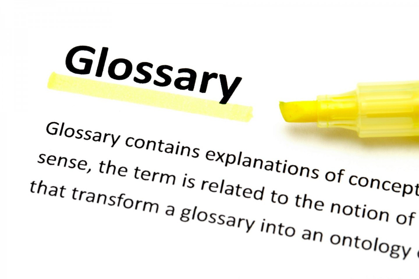 highlighter glossary book