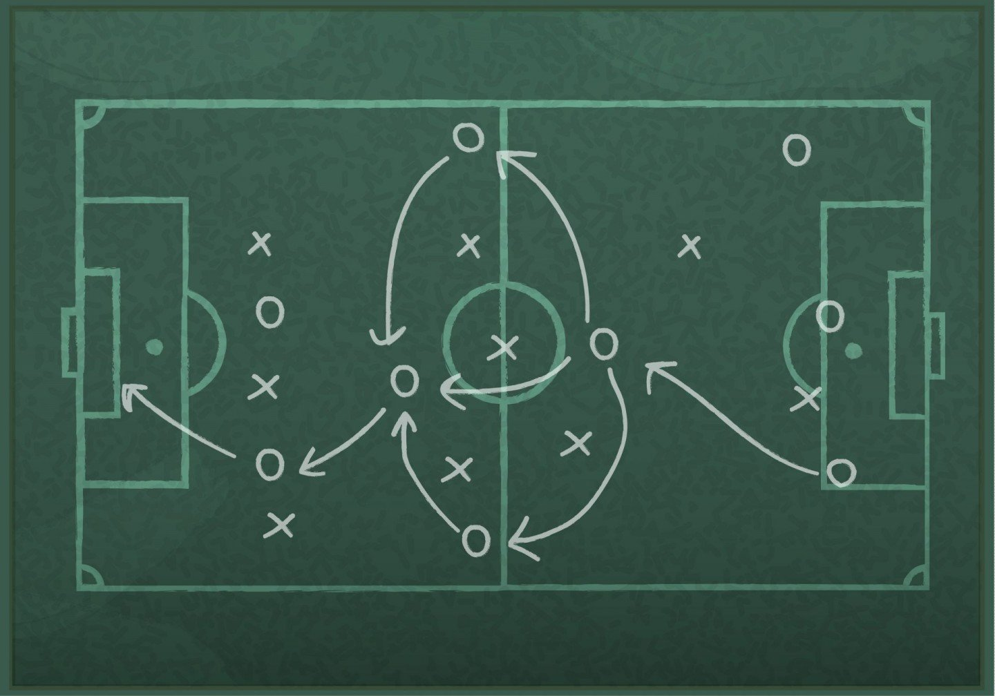 soccer strategy drawing