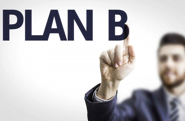man drawing plan b